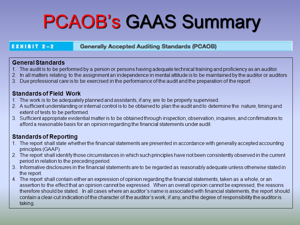 The 10 Fundamental Generally Accepted Auditing Standards (GAAS)