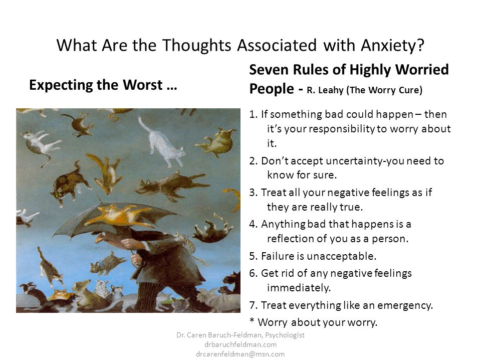 What Are the Thoughts Associated with Anxiety