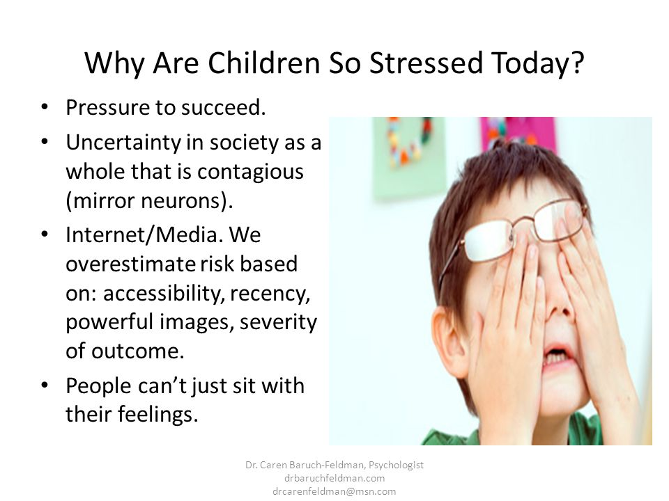 Why Are Children So Stressed Today