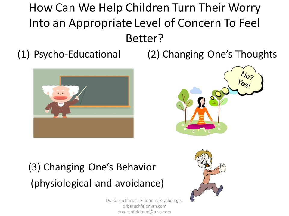 How Can We Help Children Turn Their Worry Into an Appropriate Level of Concern To Feel Better