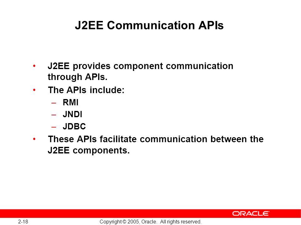 J2EE Communication APIs