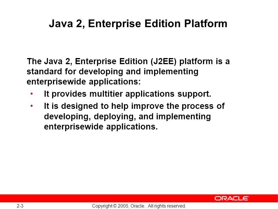 Java 2, Enterprise Edition Platform