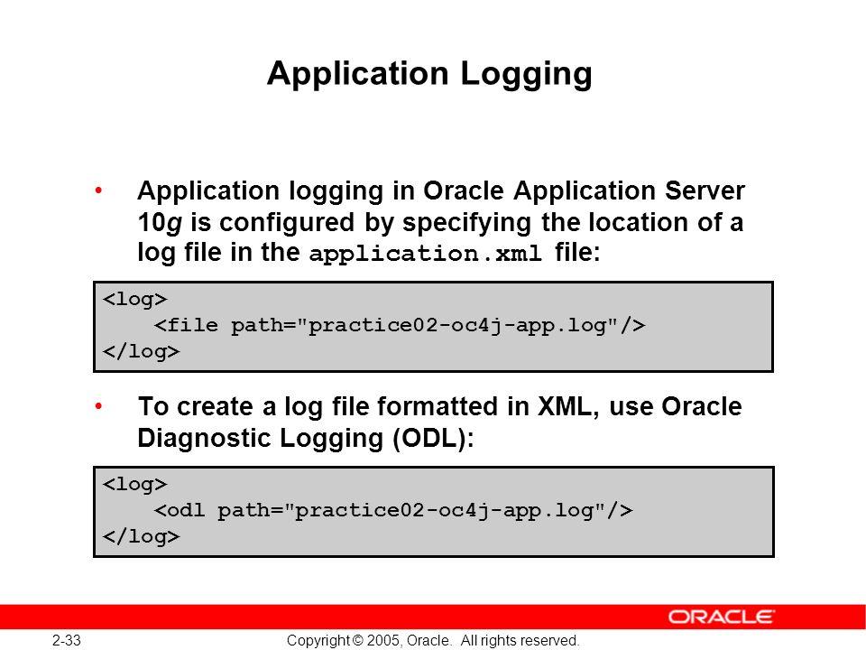 Application Logging