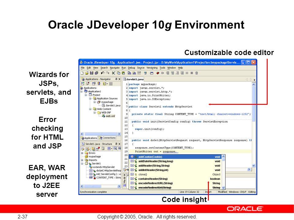 Oracle JDeveloper 10g Environment
