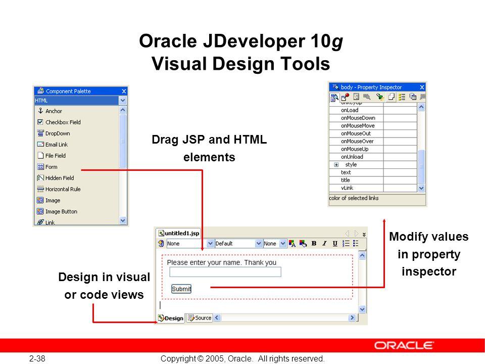 Oracle JDeveloper 10g Visual Design Tools