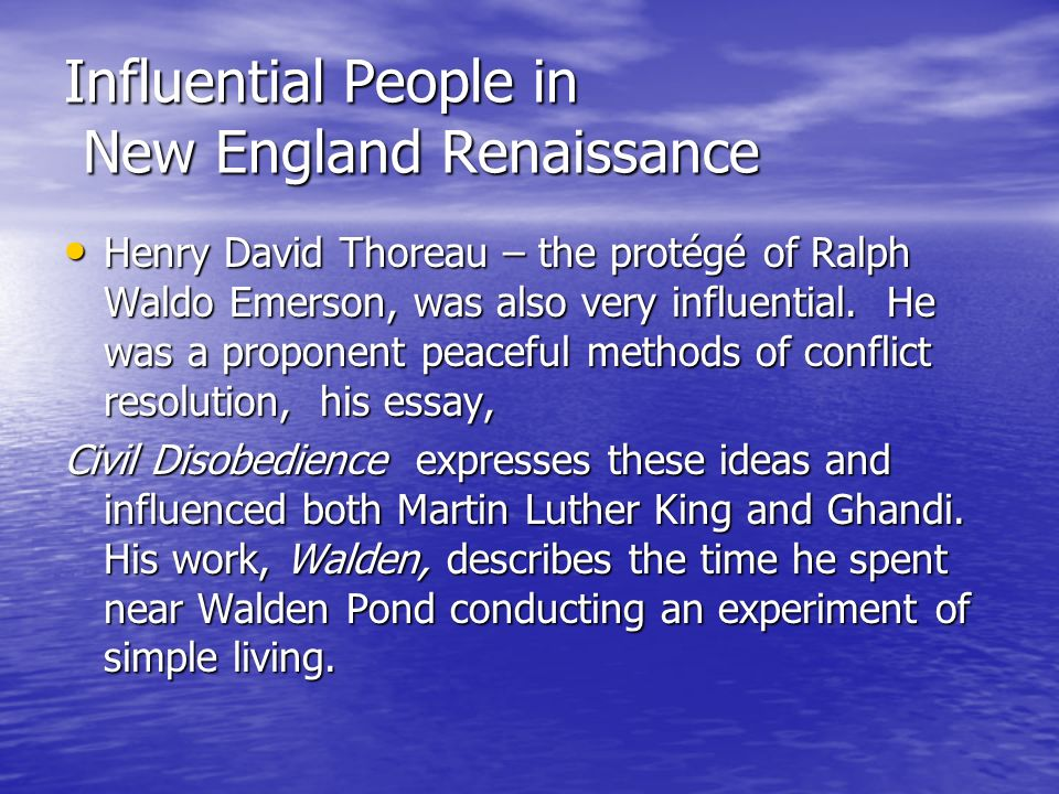 essay influential people