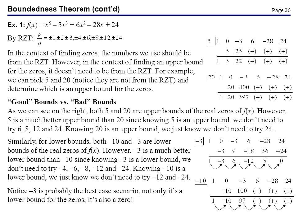 Boundedness Theorem (cont'd)