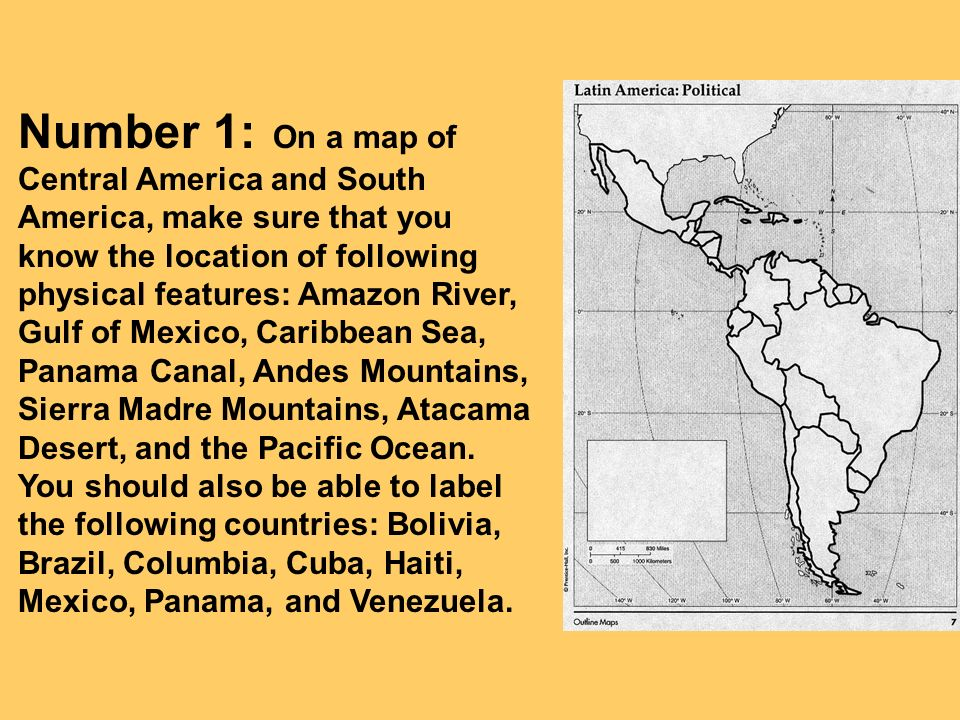 Study Guide For The Geography Of South America Ppt Video Online - Political map of panama caribbean sea