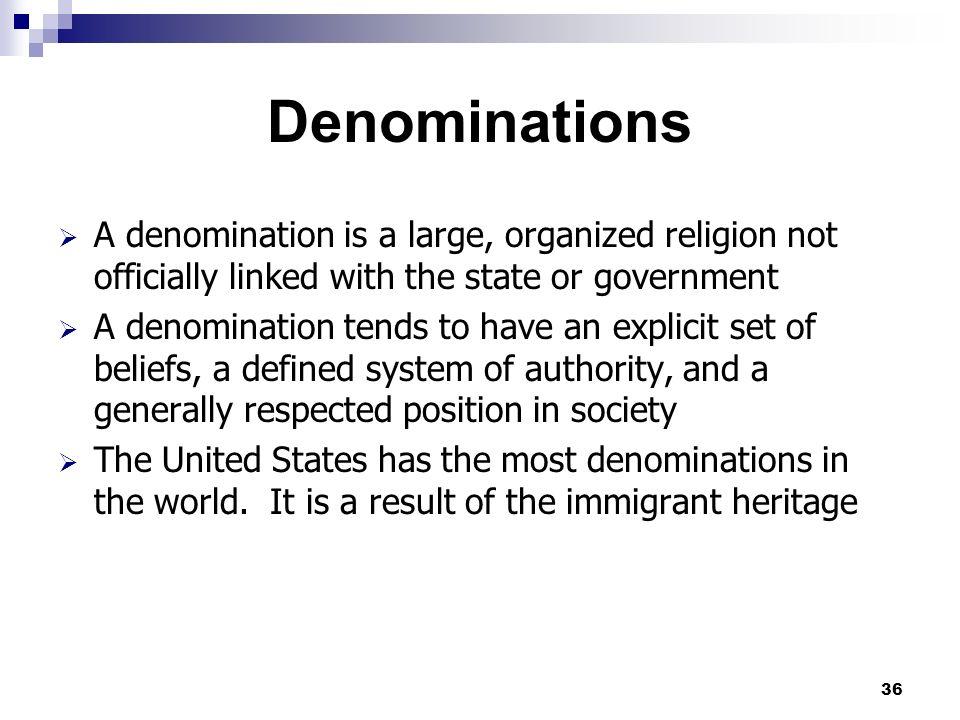 Good 36 Denominations ...