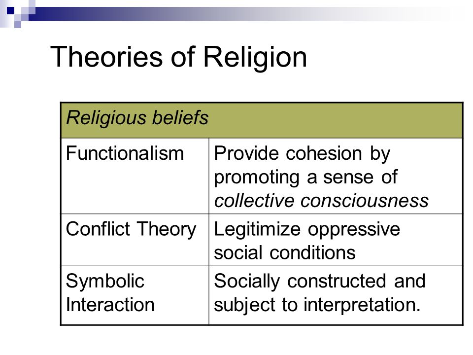 Types of Conflict Theories