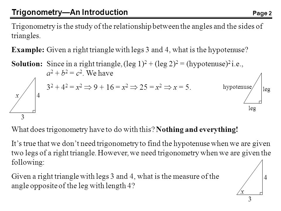 Trigonometry—An Introduction