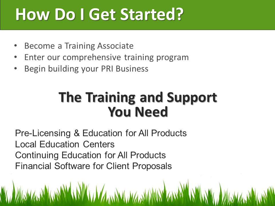 The Training and Support You Need
