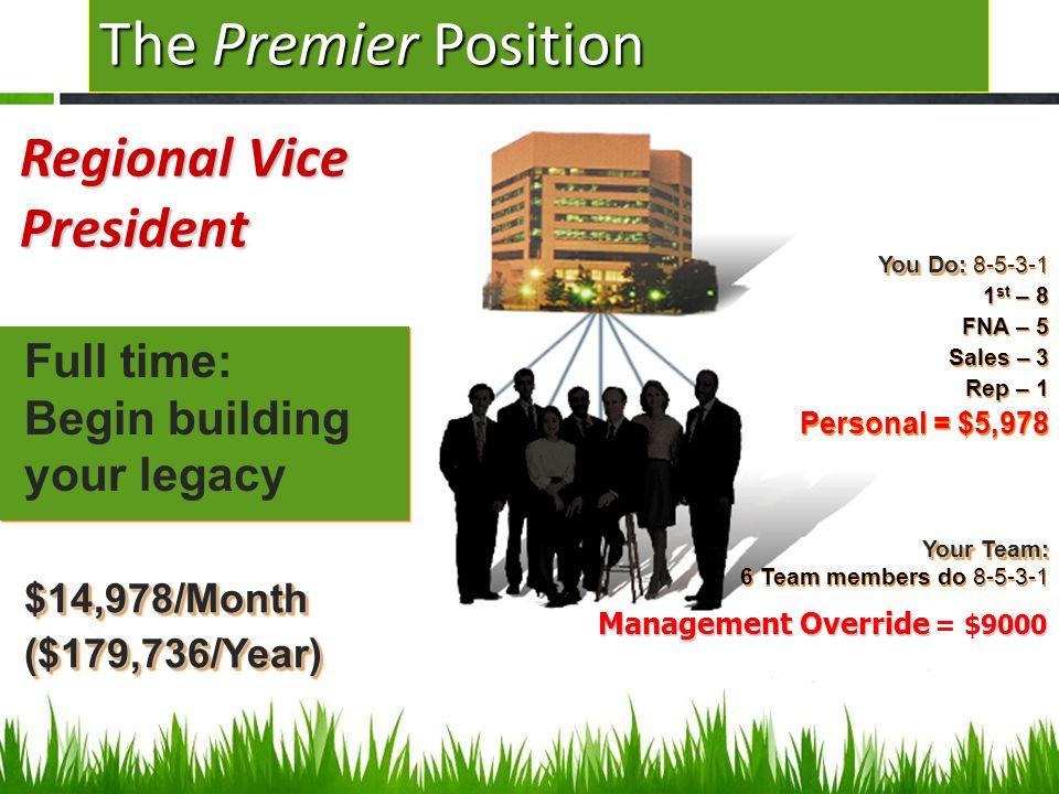 The Premier Position Regional Vice President