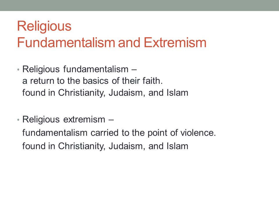 Religious Fundamentalism Examples Do Due Compare and con...
