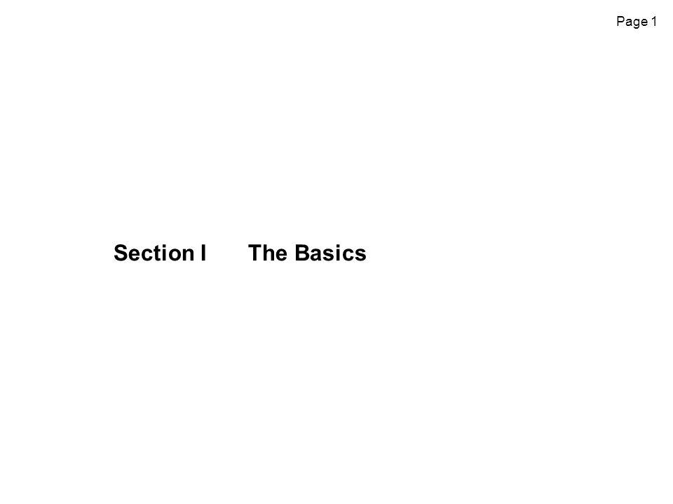 Section I The Basics