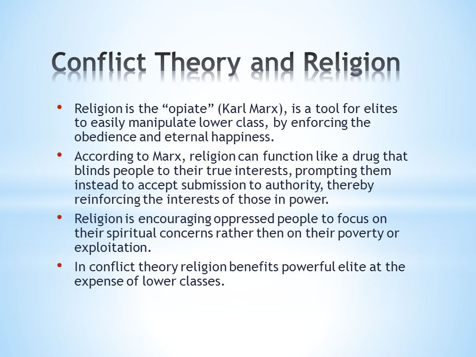 conflict thesis religion Islam, christianity, and the conflict thesis  a close look at nineteenth-century accounts of the conflict between science and religion shows that islam and.