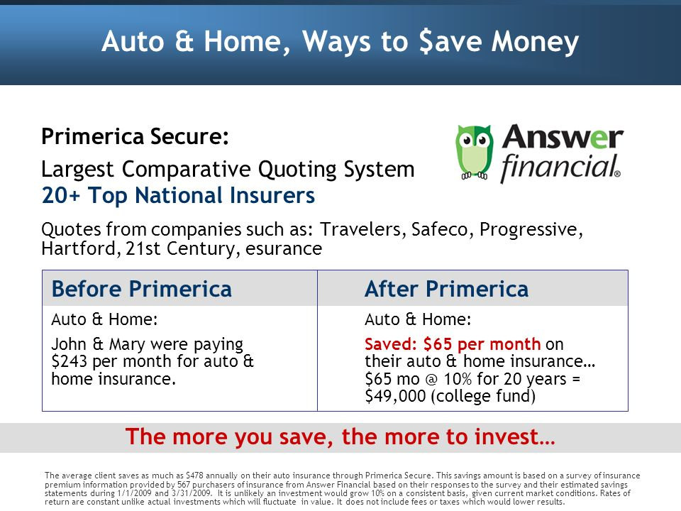 Auto & Home, Ways to $ave Money