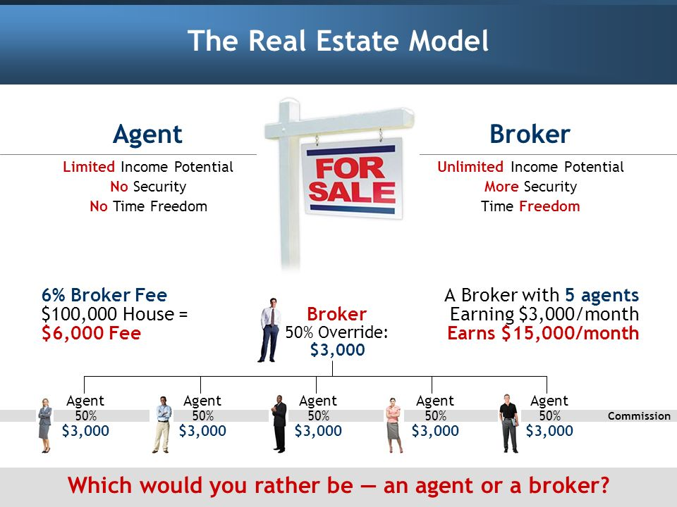 Which would you rather be — an agent or a broker