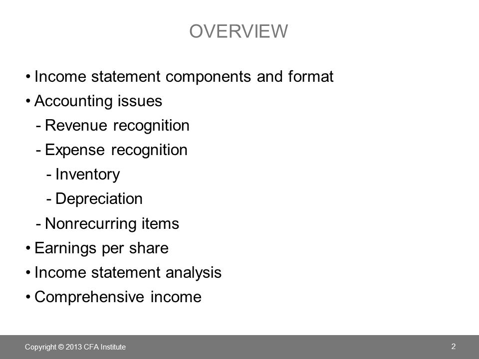 Chapter  Understanding Income Statements  Ppt Download