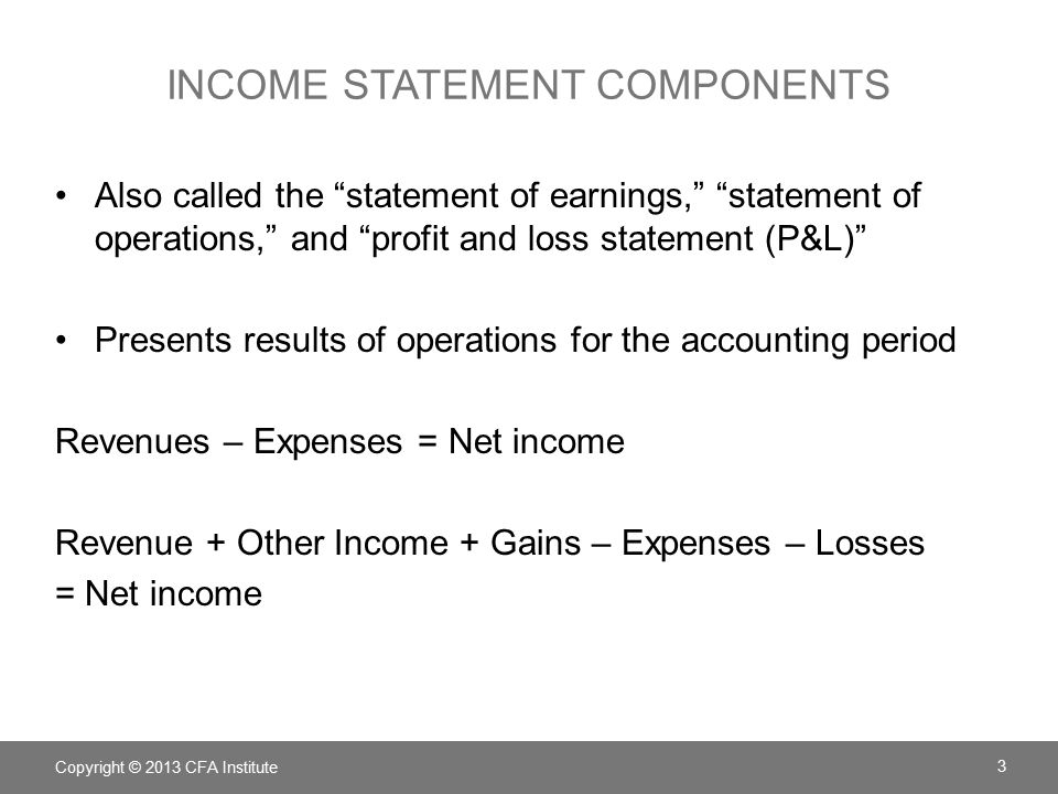 generic profit and loss statement
