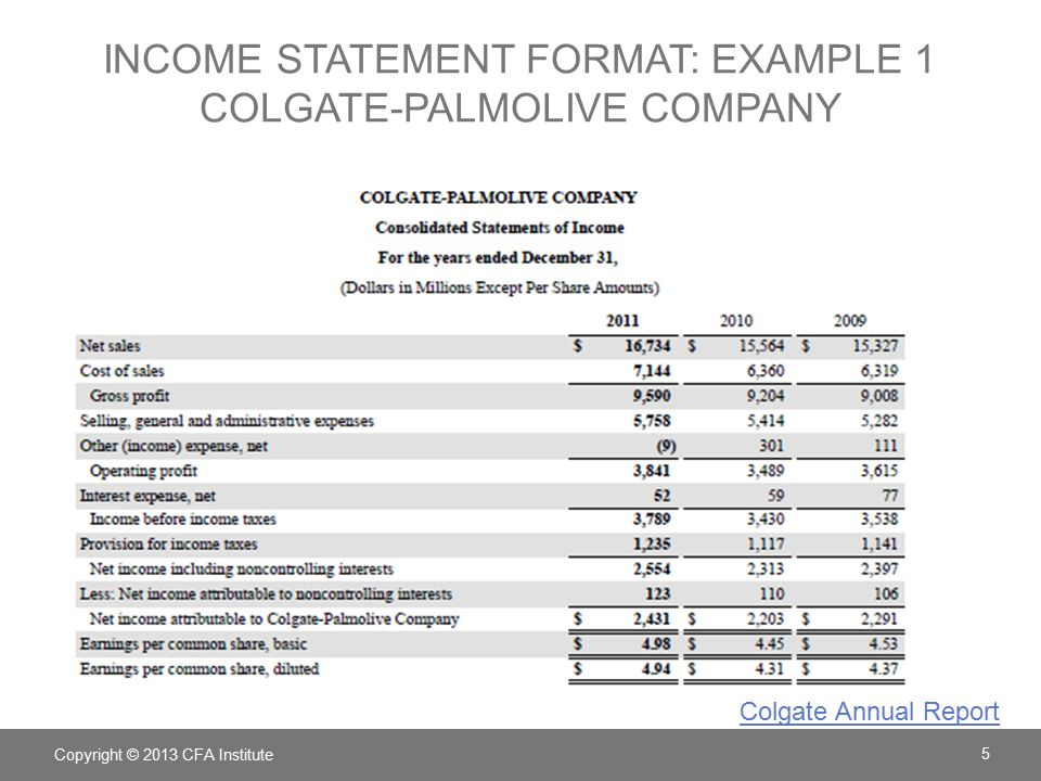 Exceptional 5 Income Statement ...  Components Of An Income Statement