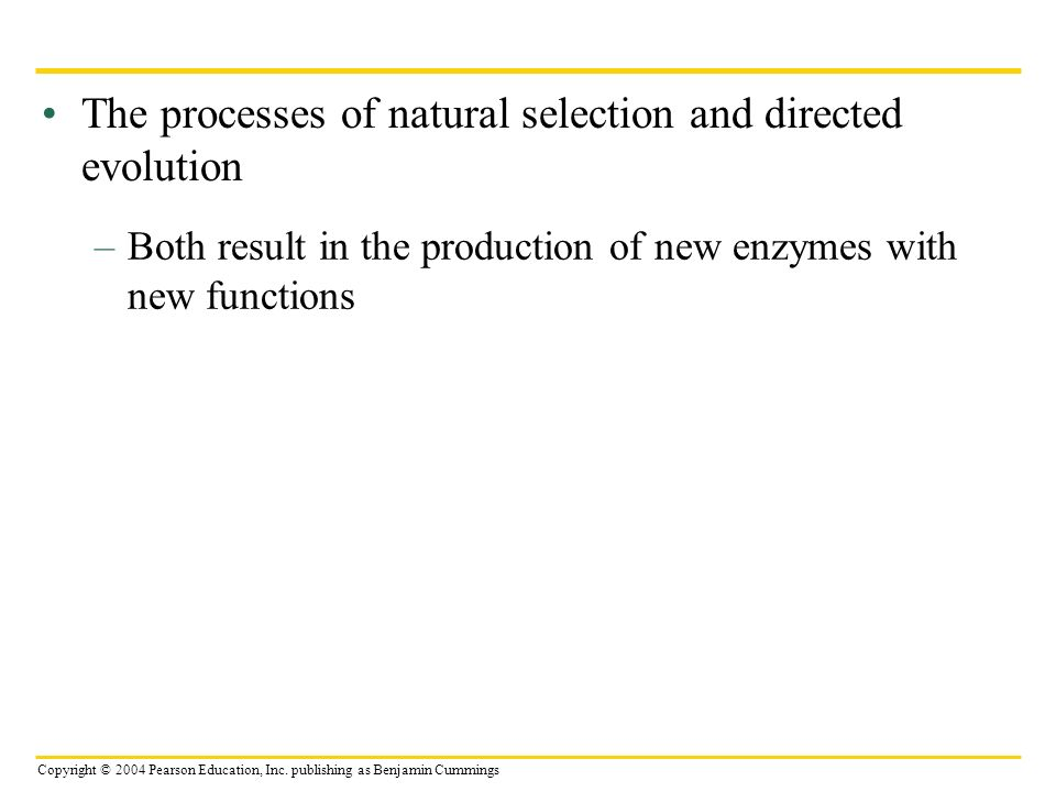 The processes of natural selection and directed evolution