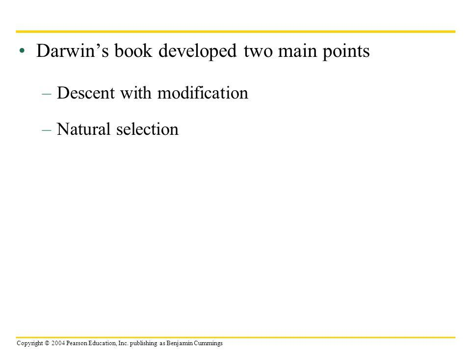 Darwin's book developed two main points