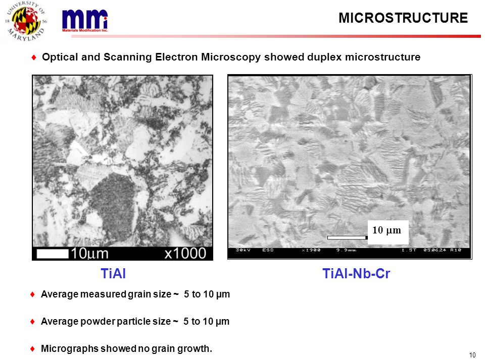 MICROSTRUCTURE TiAl TiAl-Nb-Cr