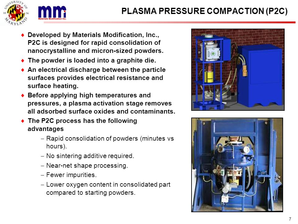 PLASMA PRESSURE COMPACTION (P2C)