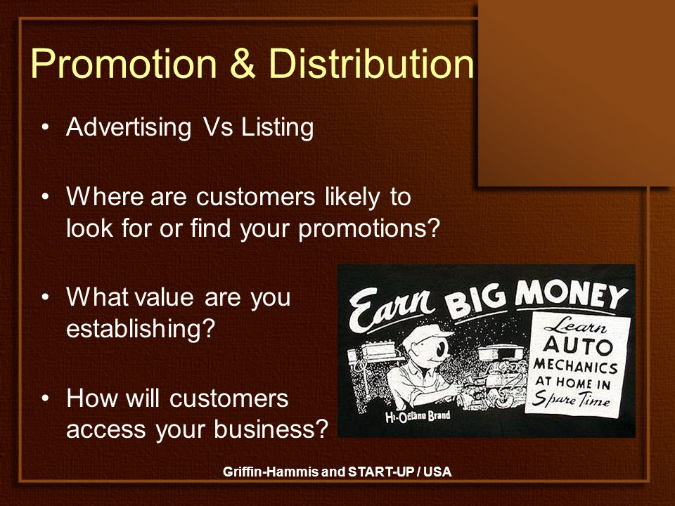 Promotion & Distribution