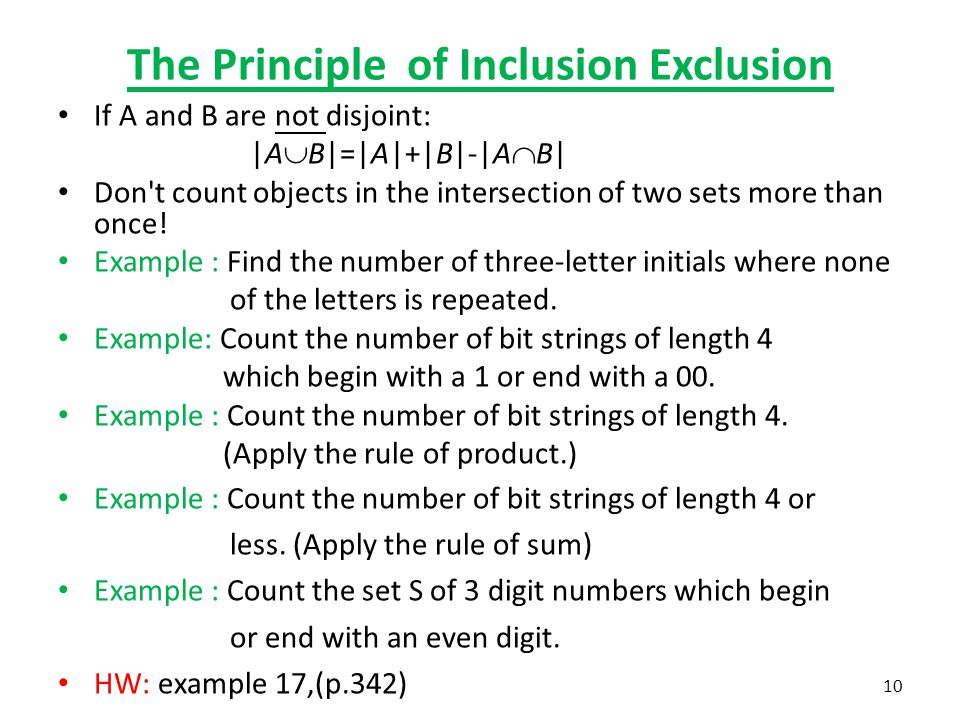 chapter the basics of counting 5.2 the pigeonhole principle - ppt video online download principle of inclusion diagram explanation of block diagram