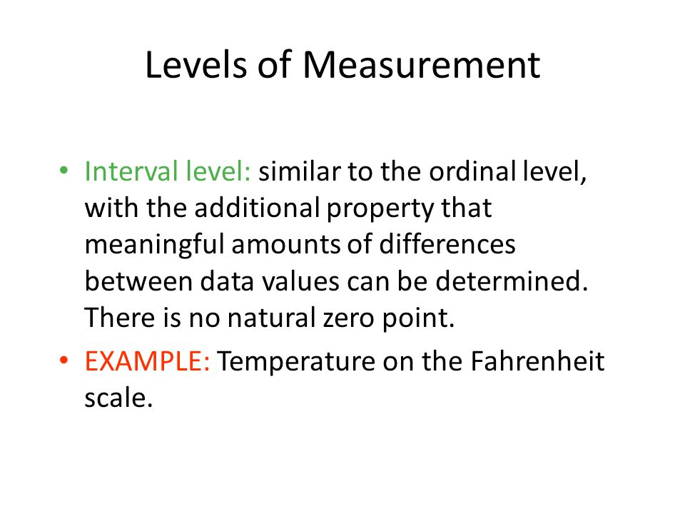 1-16 Levels of Measurement.