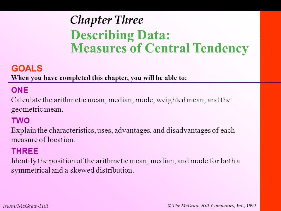 Describing Data: Measures of Central Tendency