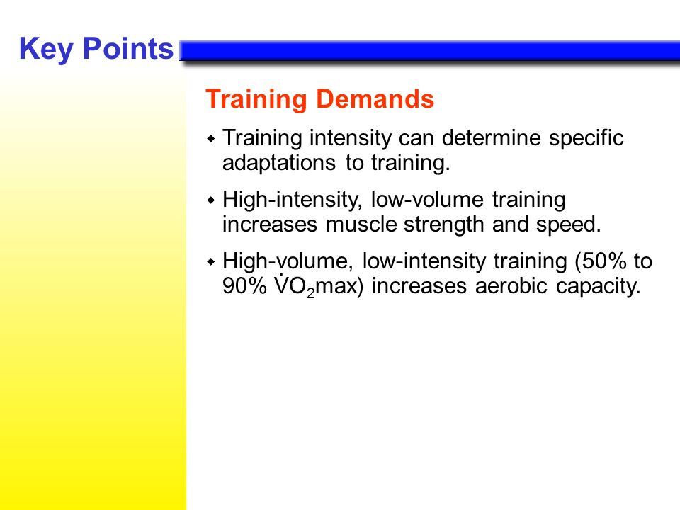 Key Points Training Demands .