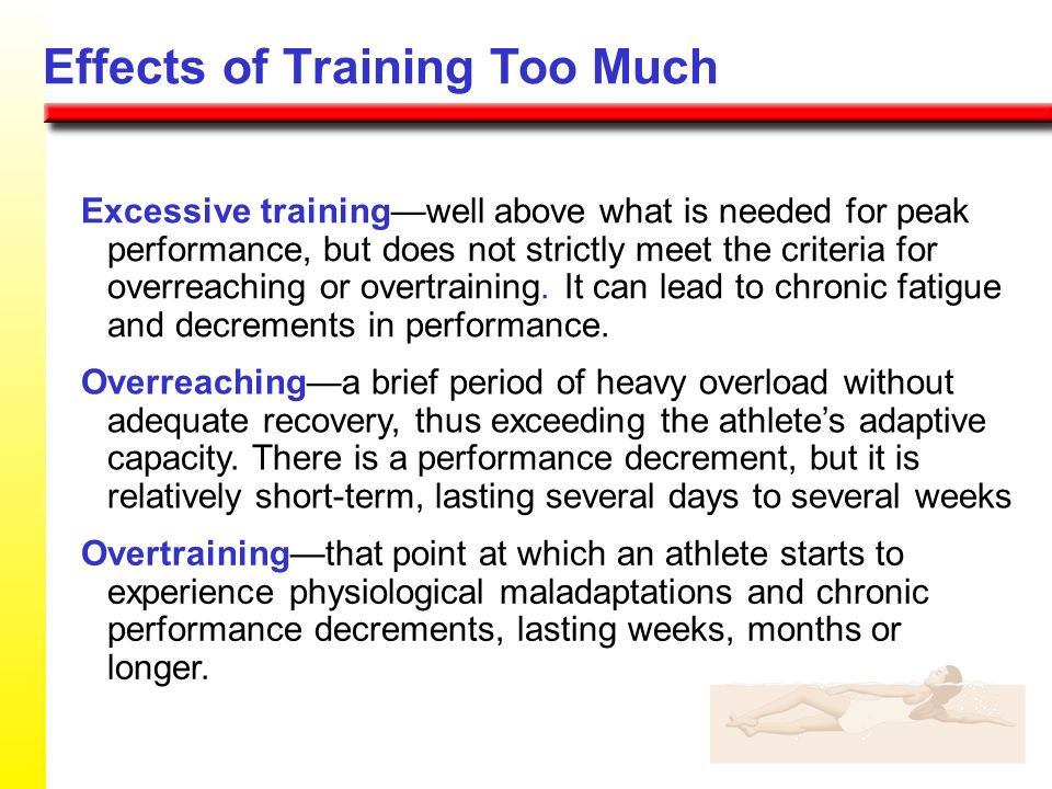 Effects of Training Too Much
