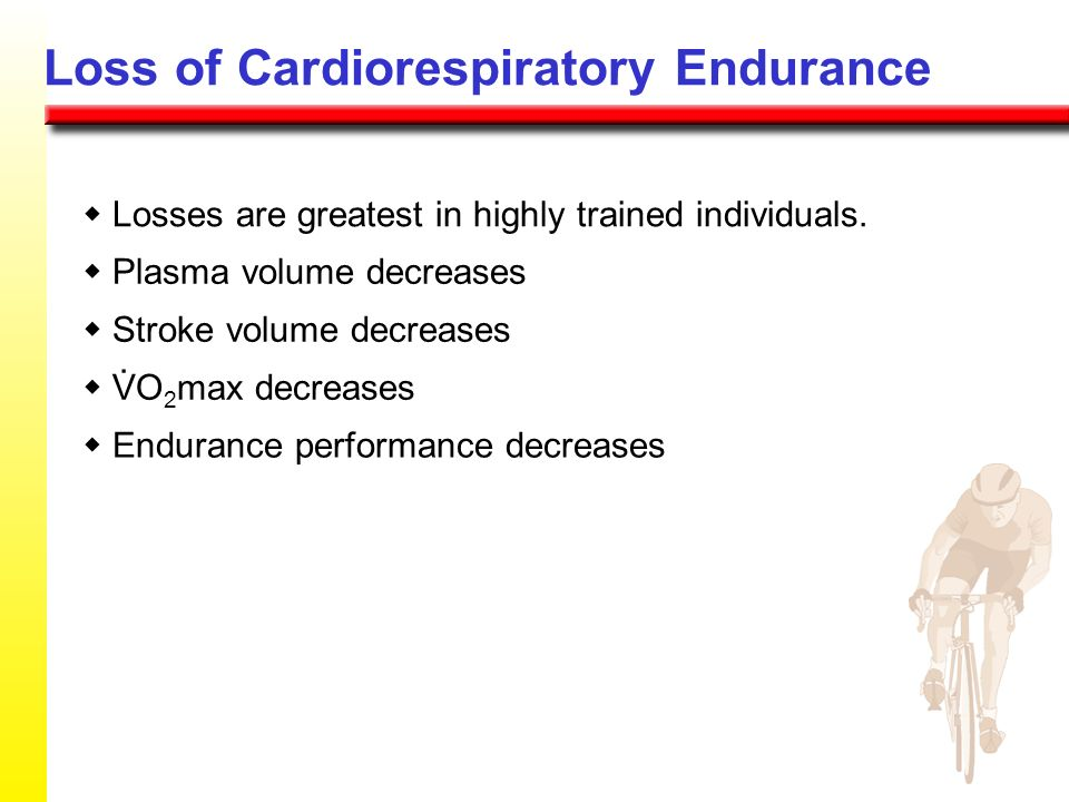 Loss of Cardiorespiratory Endurance