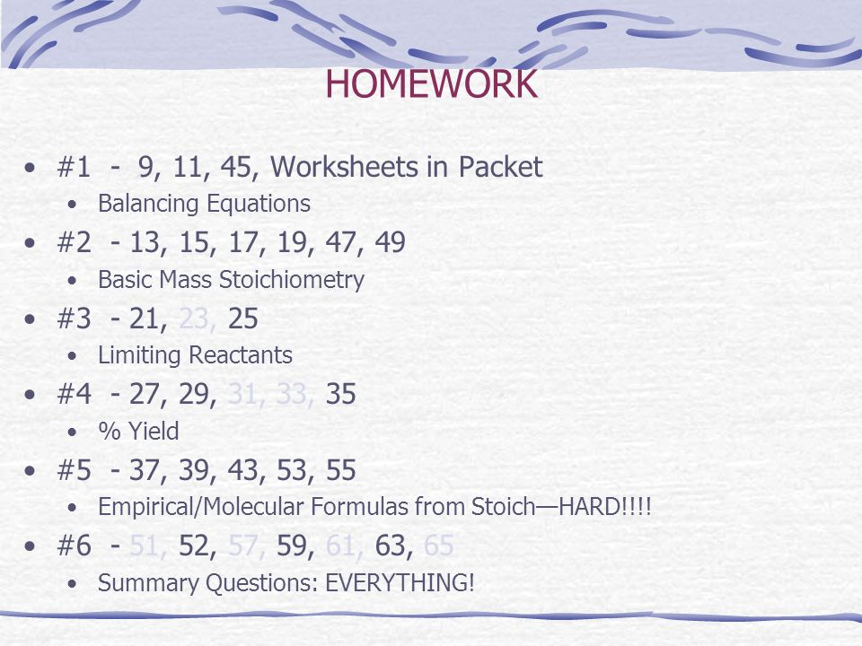CHEMICAL EQUATIONS AND STOICHIOMETRY ppt video online download – Limiting Reactant Problems Worksheet