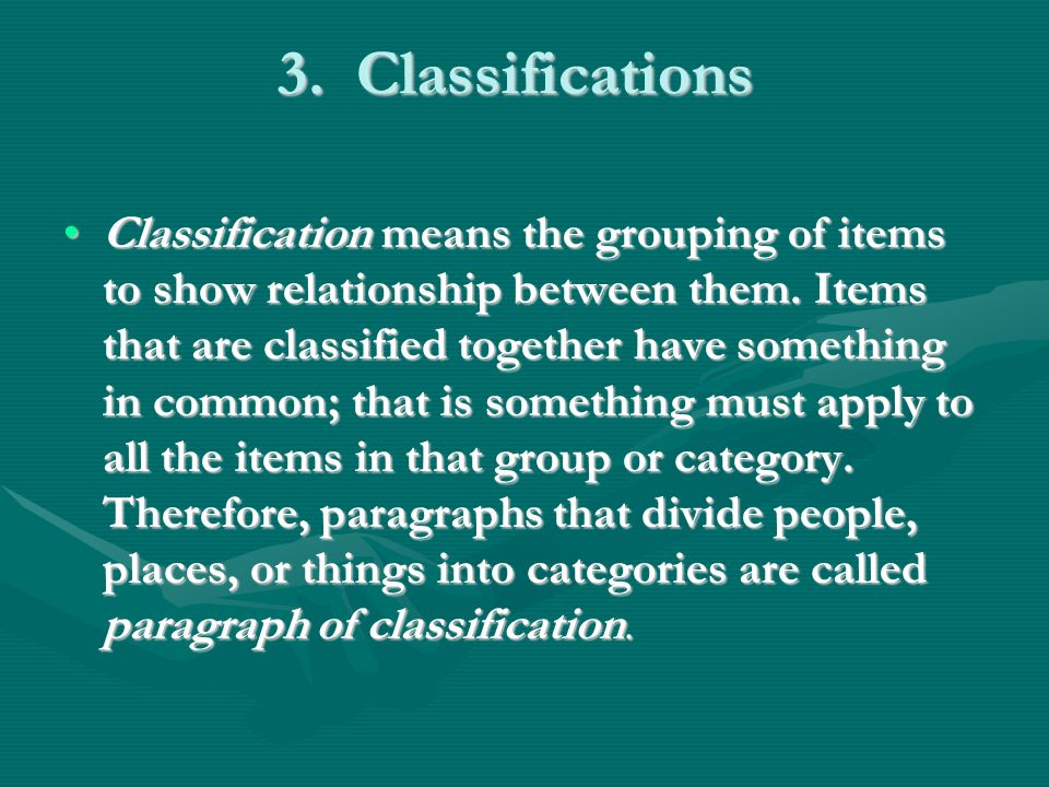 3. Classifications