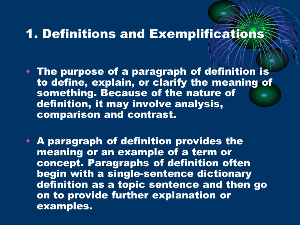 1. Definitions and Exemplifications
