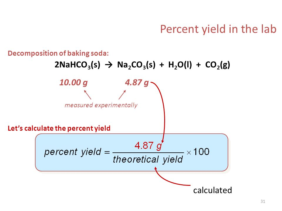 Percentage Yield Lab Answers