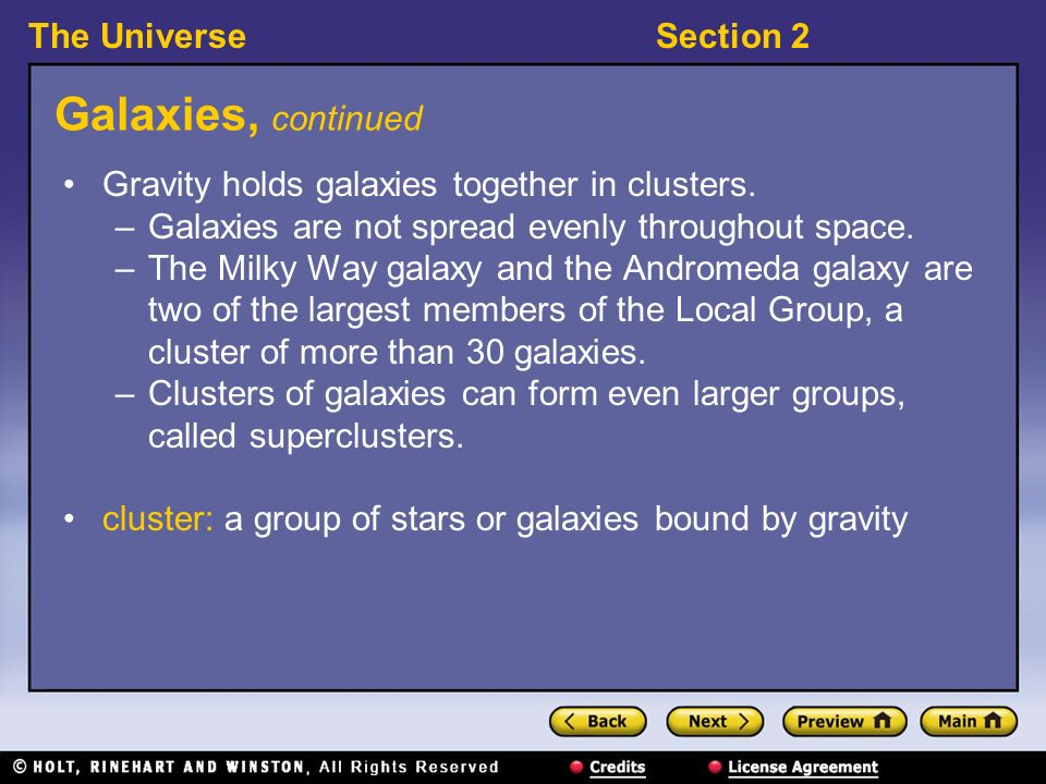 Section 2: The Milky Way and Other Galaxies - ppt download