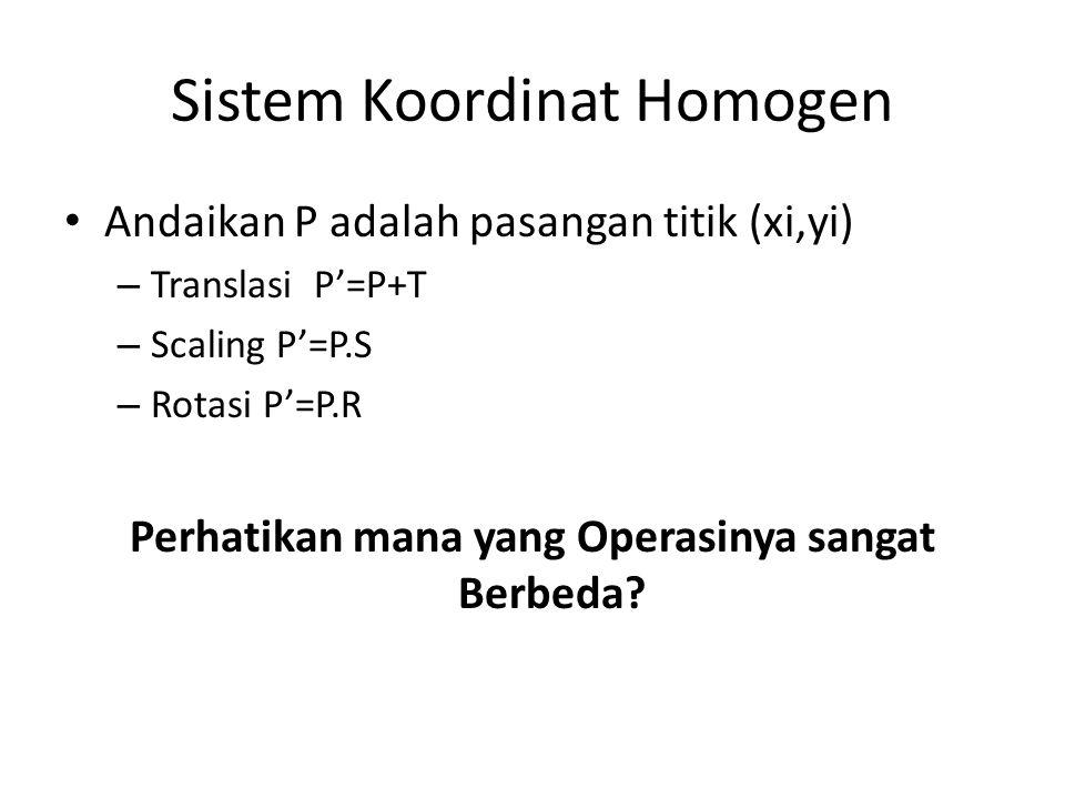 Sistem Koordinat Homogen