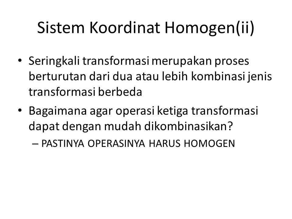 Sistem Koordinat Homogen(ii)