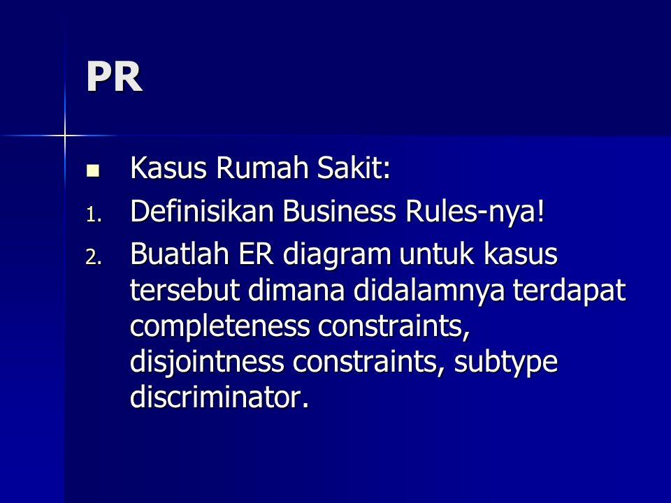 PR Kasus Rumah Sakit: Definisikan Business Rules-nya!