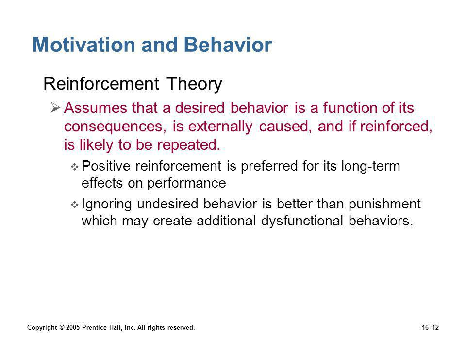 Motivation and Behavior