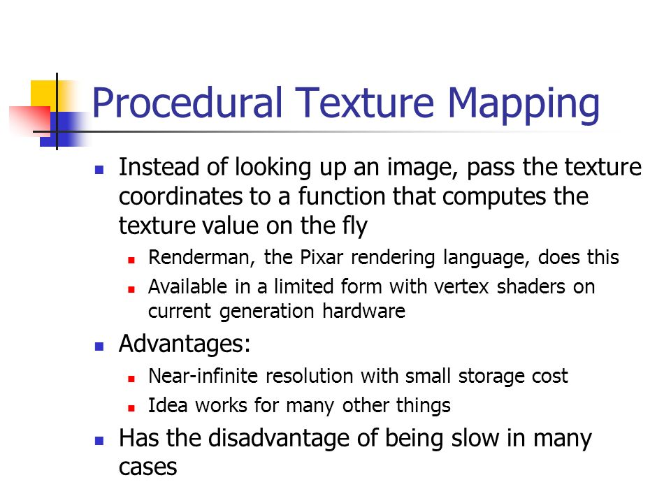 Procedural Texture Mapping