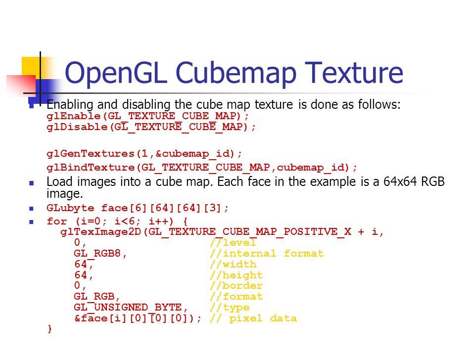OpenGL Cubemap Texture