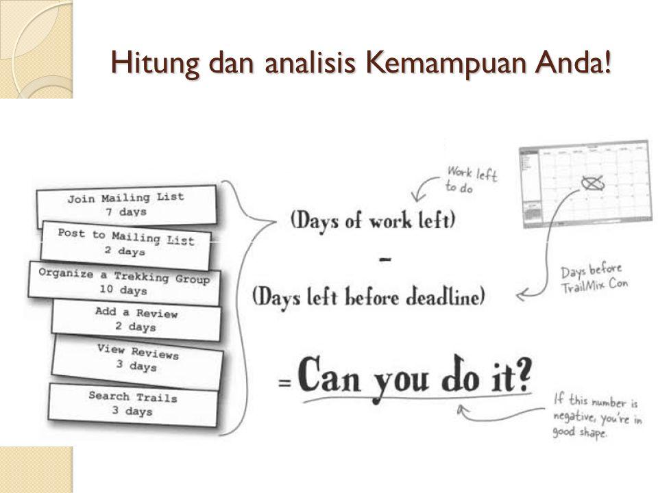 Hitung dan analisis Kemampuan Anda!