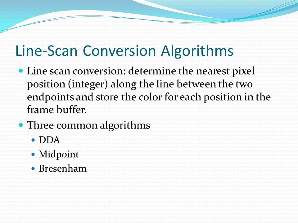 Line-Scan Conversion Algorithms