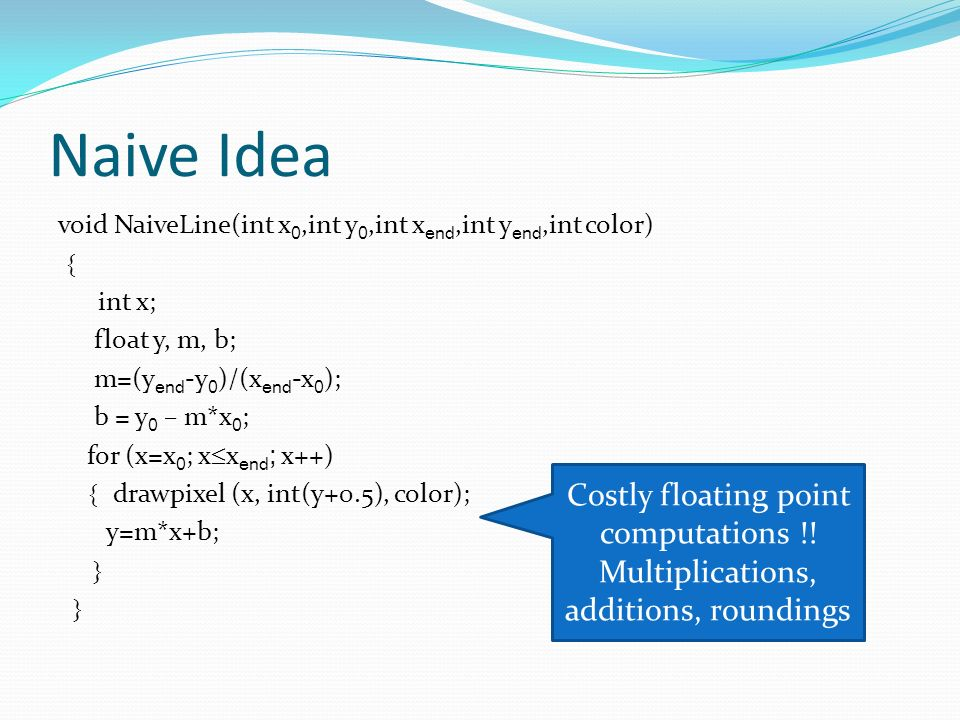 Naive Idea Costly floating point computations !!